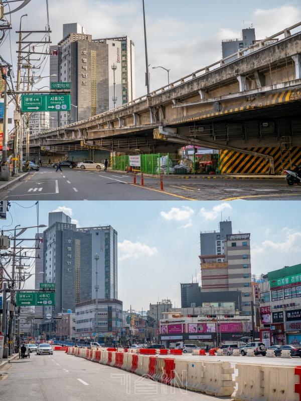 서울시, 구로고가차도 철거 완료... 7일(일) 0시 개통