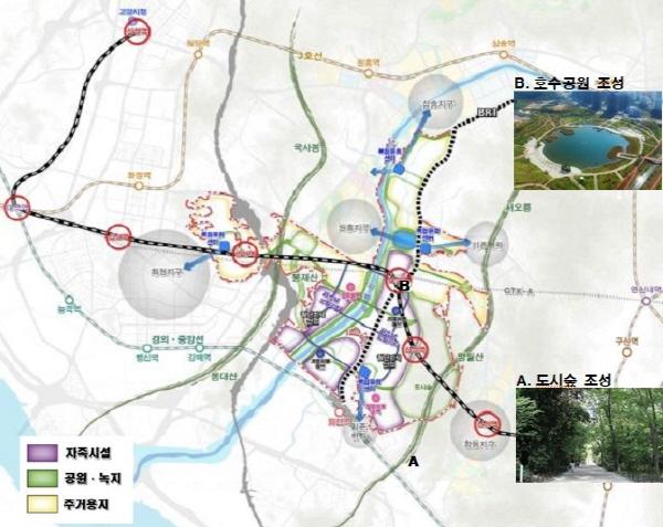 고양창릉 813만㎡에 환경이 어우러진 자족도시로 개발
