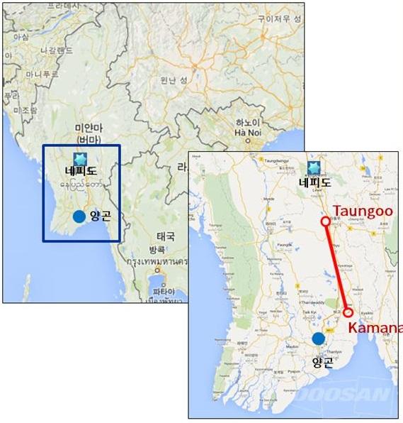 두산건설, 1천억 규모 미얀마 송전선로건설공사 계약