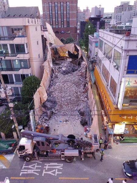 잠원동 건물 철거 공사중 붕괴 4명 사상. 붕괴 원인은?