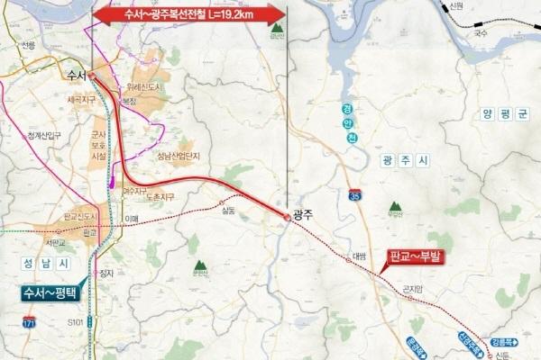 수서~광주 복선전철 예타 통과