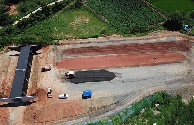 한국도로공사, 강진~광주 간 건설공사 환경표지 인증제품 순환 토사 사용