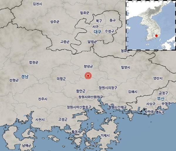 [속보]경남 창녕에서 진도Ⅳ 규모 3.4지진 발생