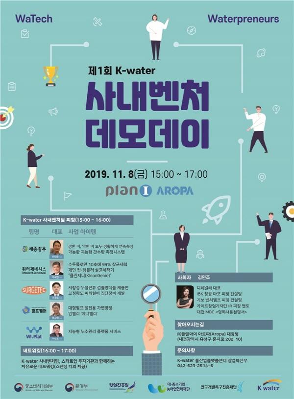 한국수자원공사, 물 관련 기술 사내벤처 데모데이 개최