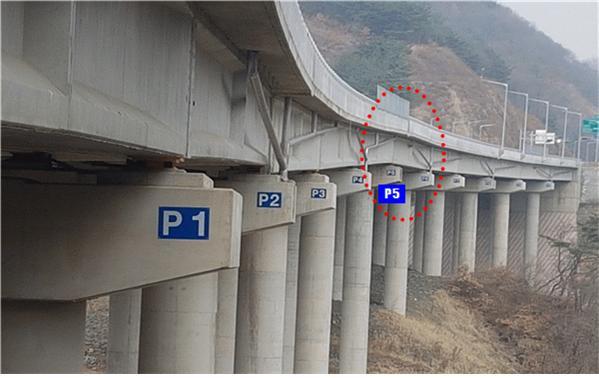 인포~보은(제2공구) 도로, 방하목교 교각 부실시공