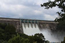 합천댐 수문 열어 방류
